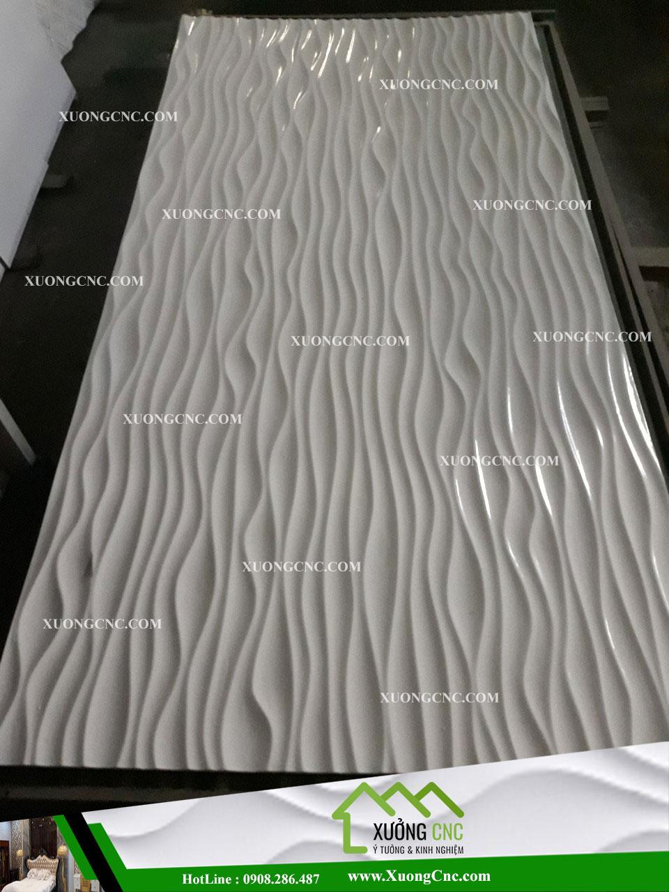Tấm ốp CNC 3D 004 , vách mỹ thuật gợn sóng 1