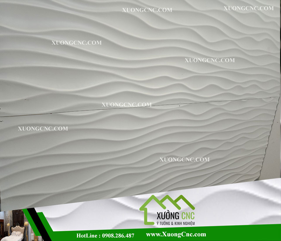 Tấm ốp CNC 3D 004 , vách mỹ thuật gợn sóng 1 2