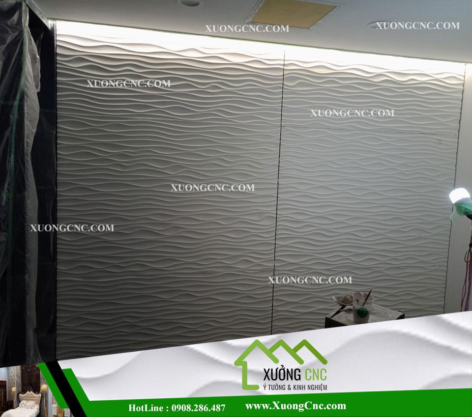 Tấm ốp CNC 3D 004 , vách mỹ thuật gợn sóng 1 3